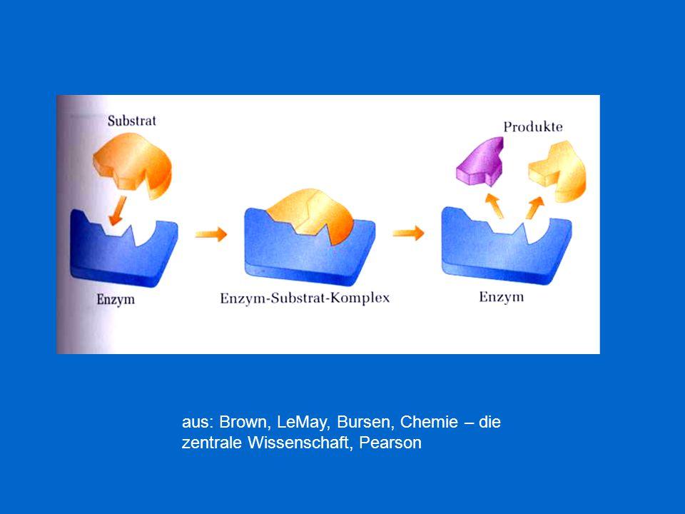 aus: Brown, LeMay, Bursen, Chemie – die zentrale Wissenschaft, Pearson