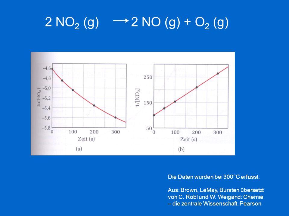 Die Daten wurden bei 300°C erfasst. Aus: Brown, LeMay, Bursten übersetzt von C. Robl und W. Weigand: Chemie – die zentrale Wissenschaft. Pearson