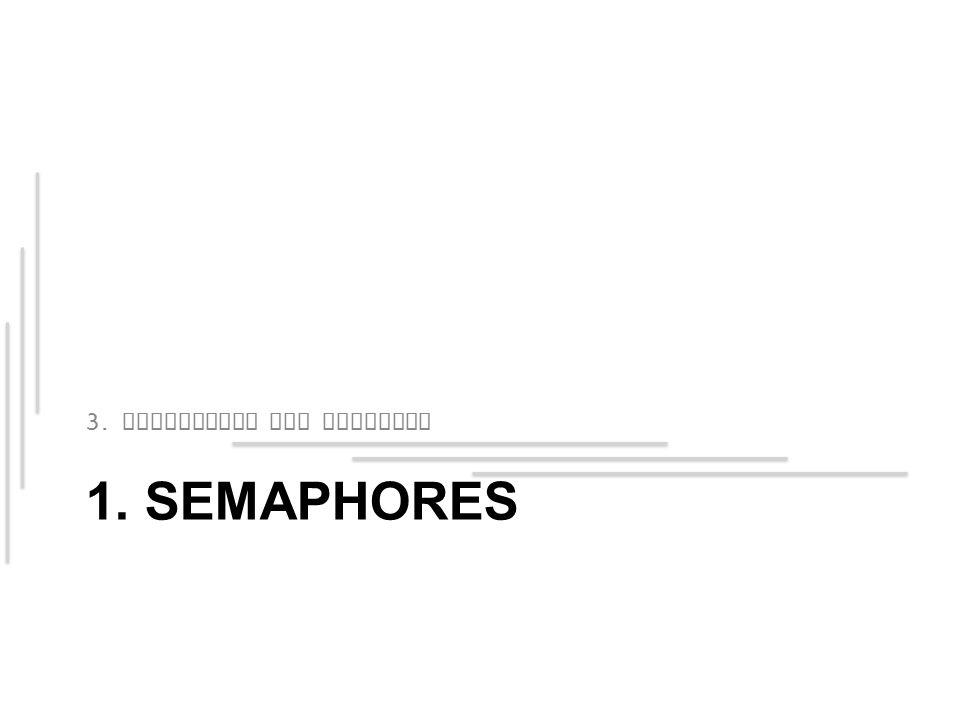 1. SEMAPHORES 3. Semaphores und Monitors