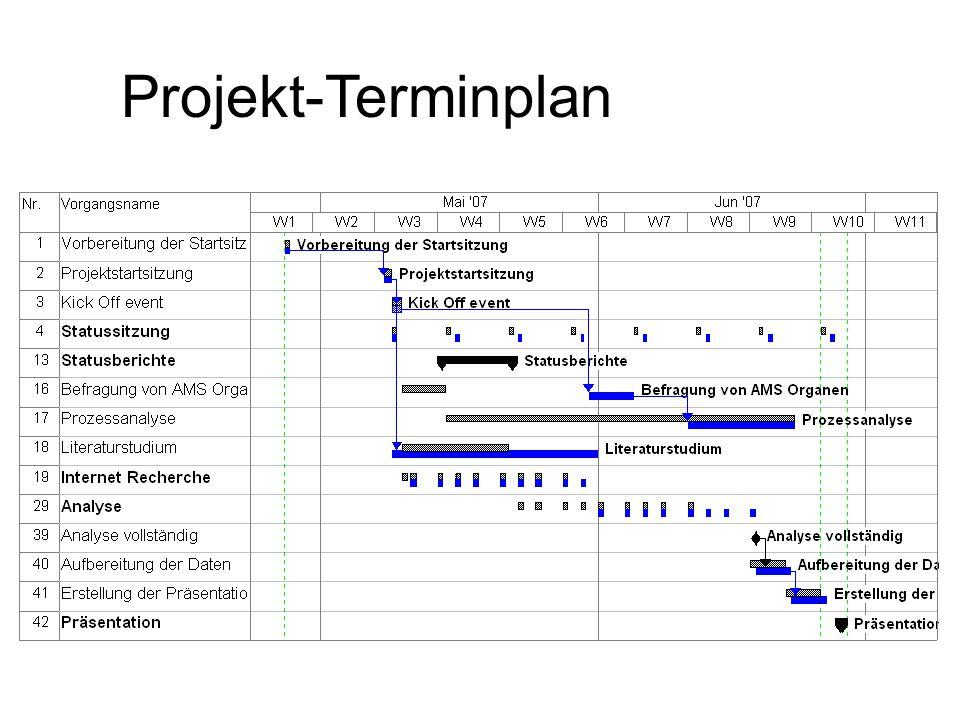 Projekt-Terminplan