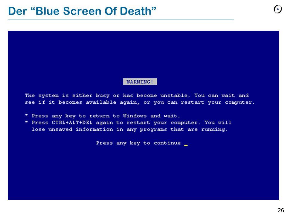 26 Der Blue Screen Of Death