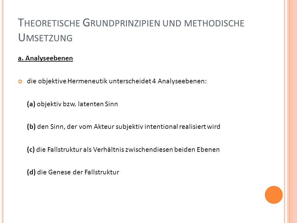 T HEORETISCHE G RUNDPRINZIPIEN UND METHODISCHE U MSETZUNG a.