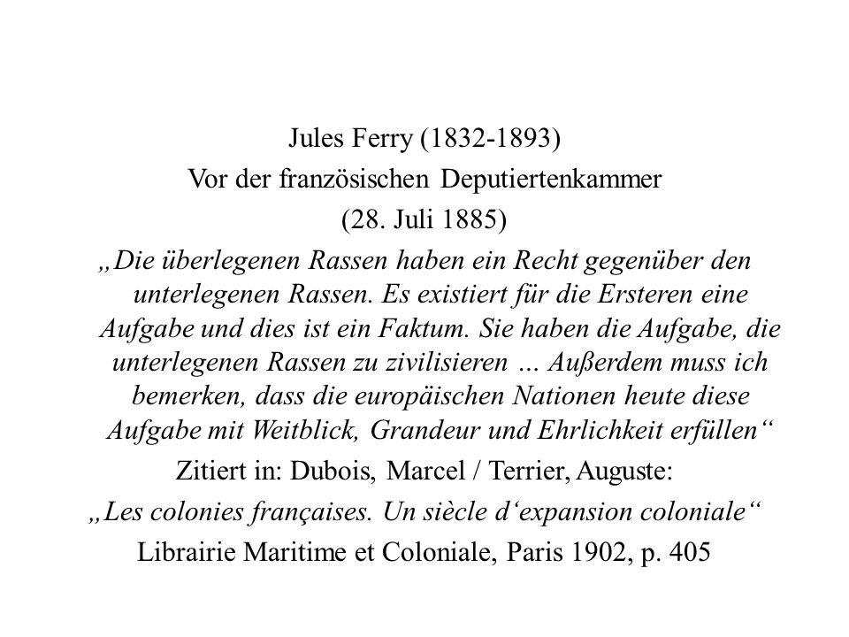 Jules Ferry (1832-1893) Vor der französischen Deputiertenkammer (28.