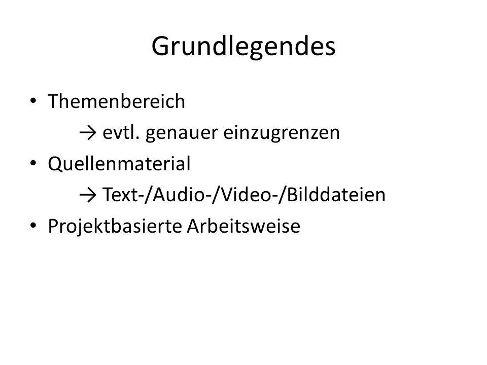 Grundlegendes Themenbereich → evtl.