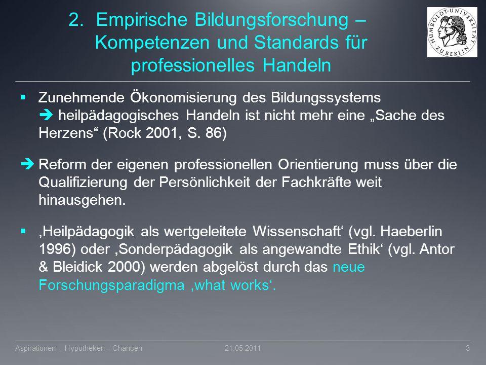2.Empirische Bildungsforschung – Kompetenzen und Standards für professionelles Handeln  Zunehmende Ökonomisierung des Bildungssystems  heilpädagogis