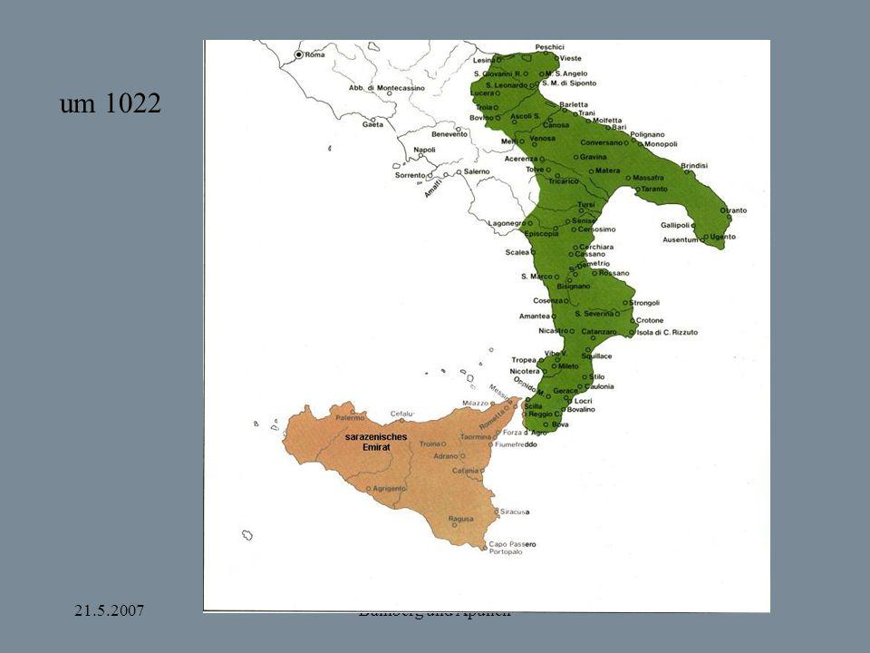 21.5.2007Bamberg und Apulien Bevölkerungsgruppen in Süditalien Langobarden Griechen Juden Slaven Armenier Sarazenen ?