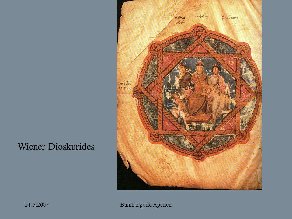 21.5.2007Bamberg und Apulien Wiener Dioskurides