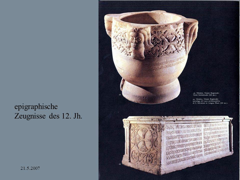 21.5.2007Bamberg und Apulien epigraphische Zeugnisse des 12. Jh.