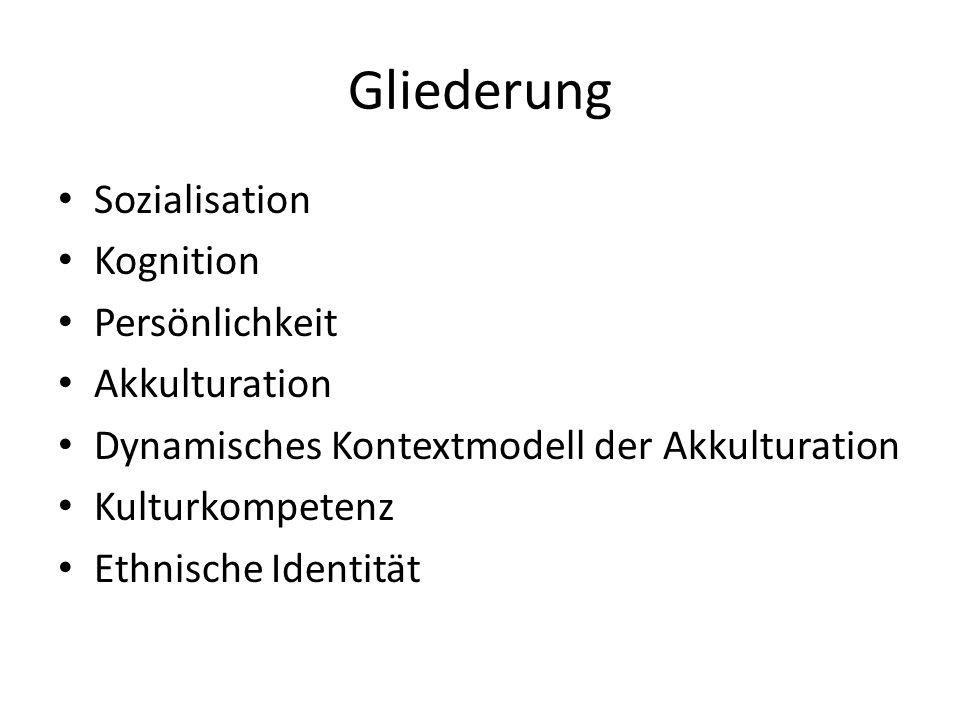 1)Integration2) Separation 3) Assimilation4) Wenig von beiden Kulturen HauptkulturMinderheitenkultur