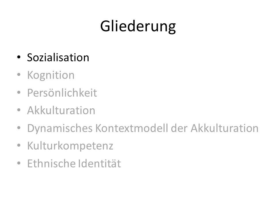 Sozialisation Prozess, bei dem ein Individuum ein Teil einer bestimmten Kultur wird und deren Werte, Überzeugungen und andere Verhaltensweisen übernimmt, um in ihr zu funktionieren