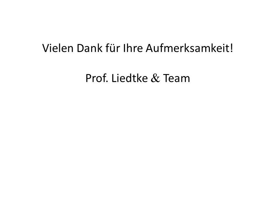 Vielen Dank für Ihre Aufmerksamkeit! Prof. Liedtke  Team