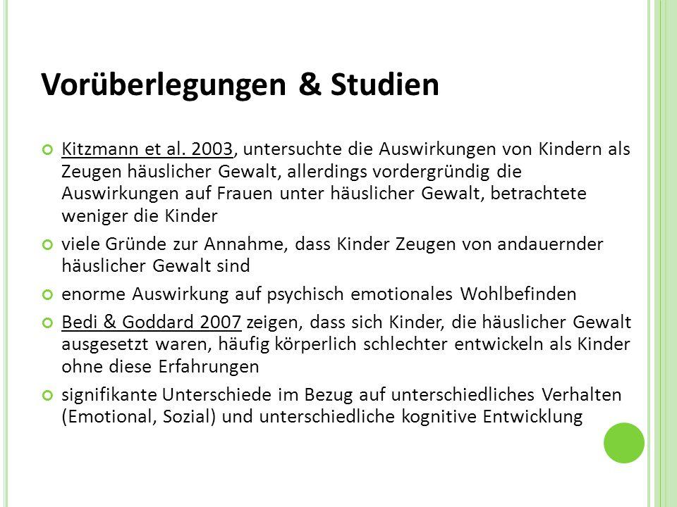 Vorüberlegungen & Studien Kitzmann et al.