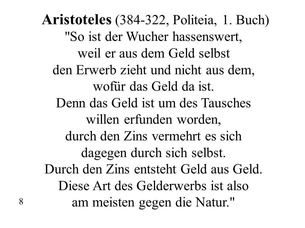 Aristoteles (384-322, Politeia, 1. Buch)
