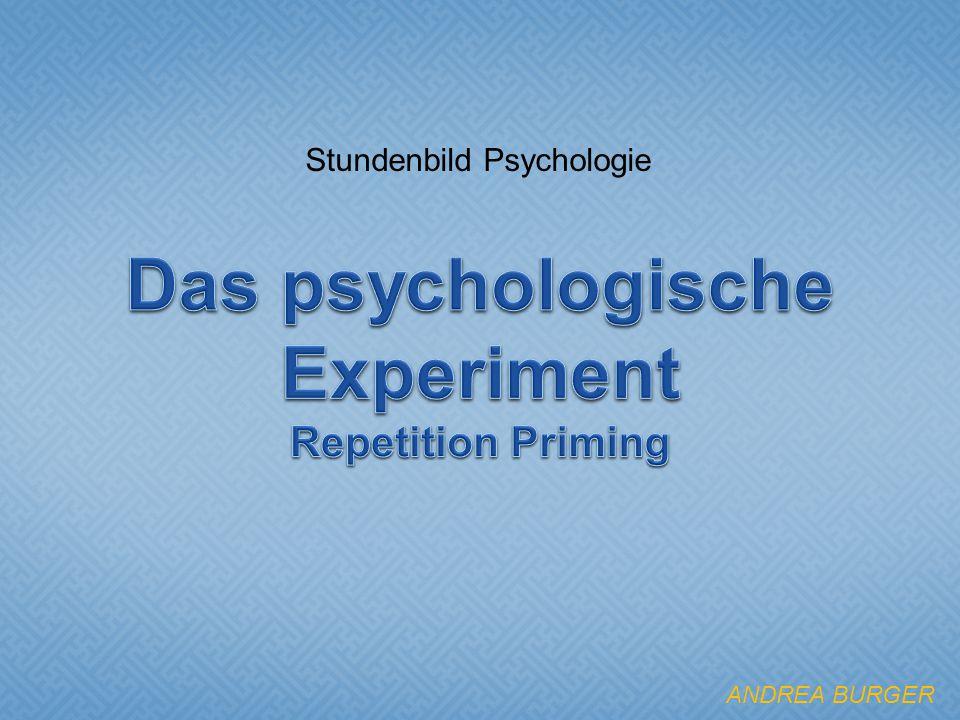 Stundenbild Psychologie ANDREA BURGER