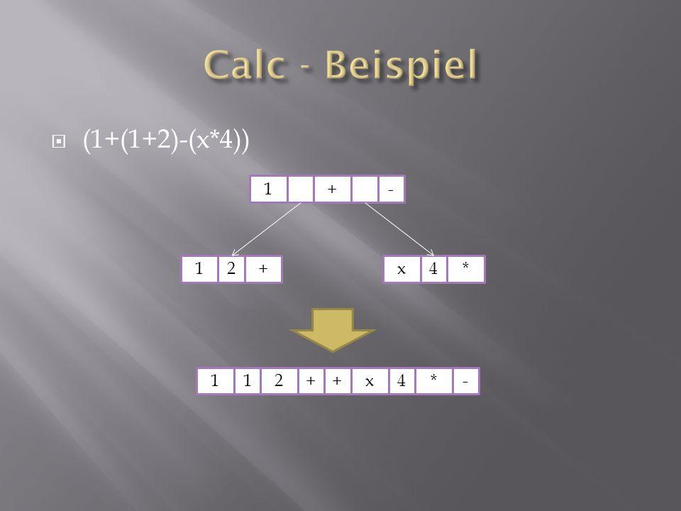  (1+(1+2)-(x*4)) 1+ 12+x4* - x4*-112++