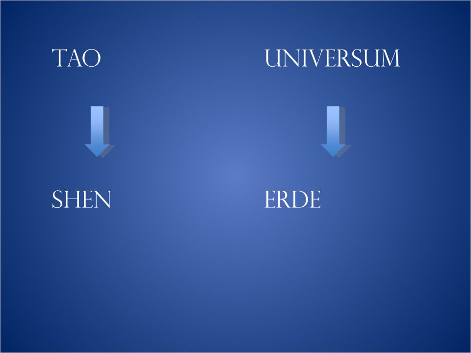 TAO UNIVERSUM SHEN ERDE