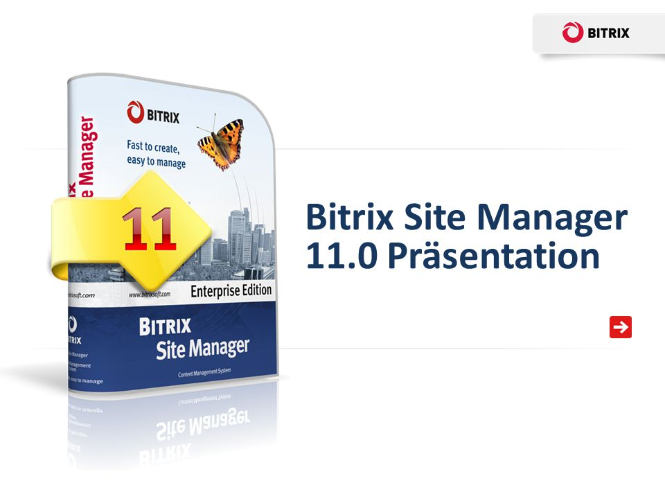 Bitrix Site Manager 11.0 Präsentation