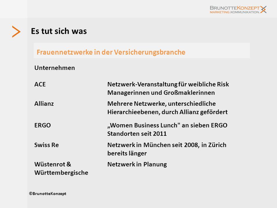 Es tut sich was ©BrunotteKonzept Frauennetzwerke in der Versicherungsbranche Unternehmen ACENetzwerk-Veranstaltung für weibliche Risk Managerinnen und