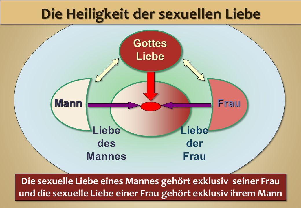 Liebe des Mannes GottesLiebe Die sexuelle Liebe eines Mannes gehört exklusiv seiner Frau und die sexuelle Liebe einer Frau gehört exklusiv ihrem Mann