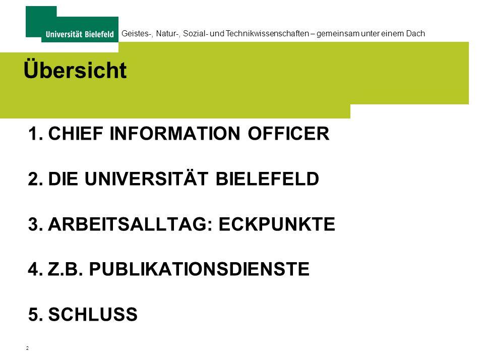 13 Geistes-, Natur-, Sozial- und Technikwissenschaften – gemeinsam unter einem Dach Universität Bielefeld, alles unter einem Dach......