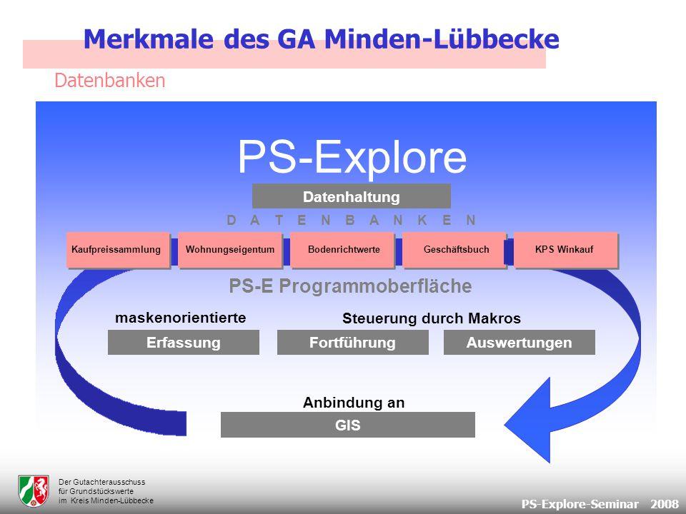 PS-Explore-Seminar 2008 Der Gutachterausschuss für Grundstückswerte im Kreis Minden-Lübbecke Bodenrichtwerte 379 Bodenrichtwerte für Bauland 330 Individuelleller Wohnungsbau bzw.