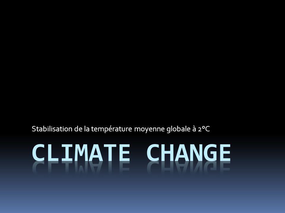 Stabilisation de la température moyenne globale à 2°C