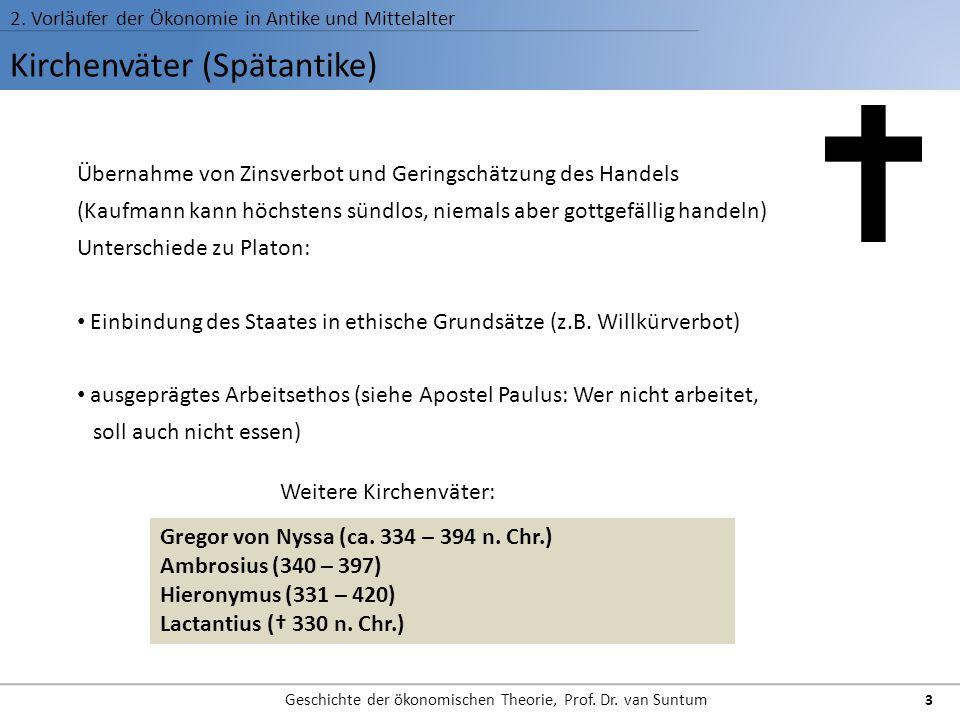 Wert- und Preislehre der Kirchenväter 2.