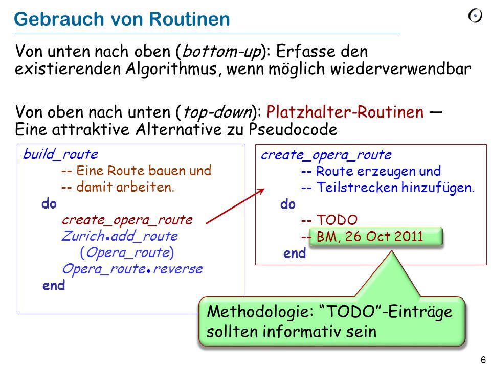 6 create_opera_route -- Route erzeugen und -- Teilstrecken hinzufügen.