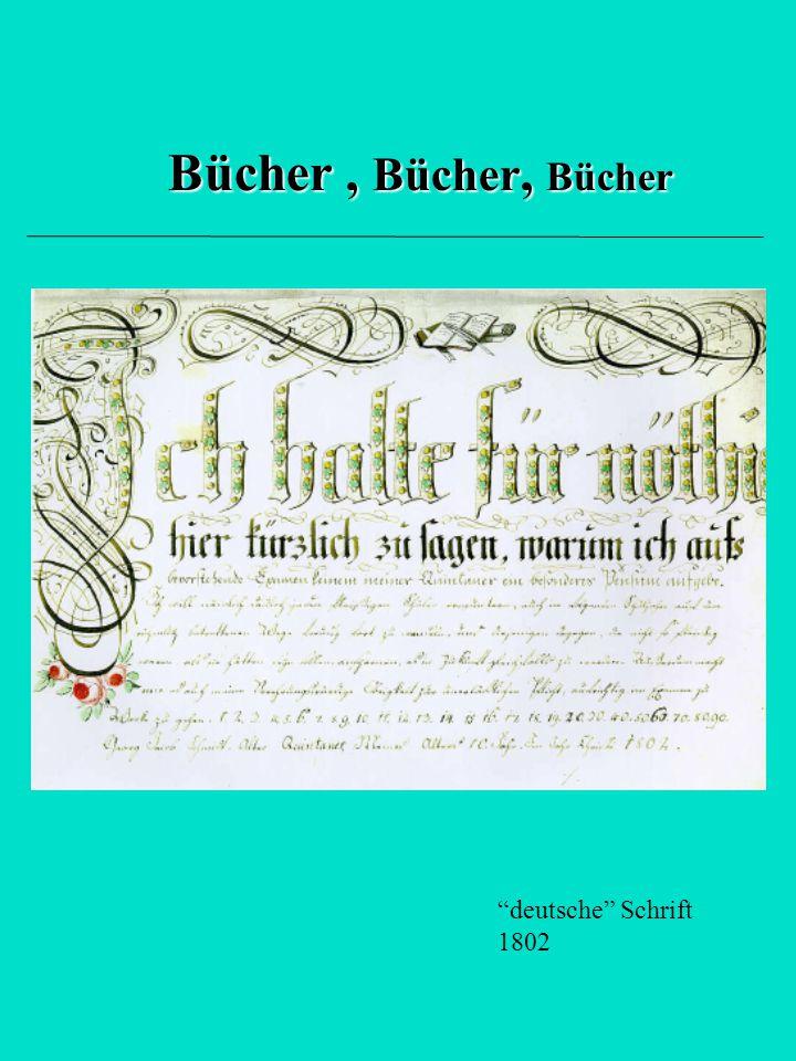 """Bücher, Bücher, Bücher """"deutsche"""" Schrift 1802"""