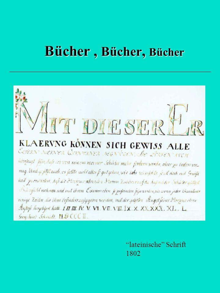 """Bücher, Bücher, Bücher """"lateinische"""" Schrift 1802"""