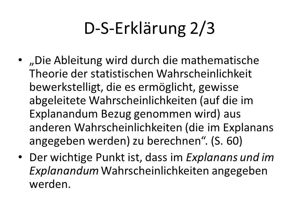 """D-S-Erklärung 2/3 """"Die Ableitung wird durch die mathematische Theorie der statistischen Wahrscheinlichkeit bewerkstelligt, die es ermöglicht, gewisse"""