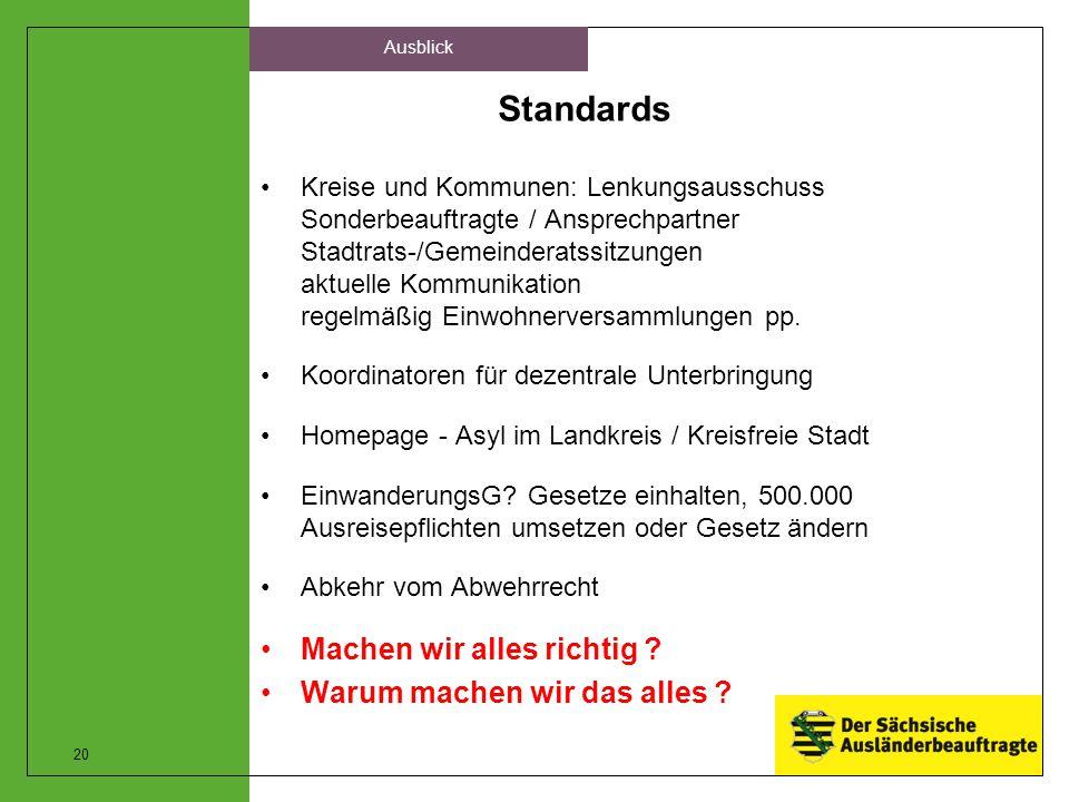 Standards Kreise und Kommunen: Lenkungsausschuss Sonderbeauftragte / Ansprechpartner Stadtrats-/Gemeinderatssitzungen aktuelle Kommunikation regelmäßi