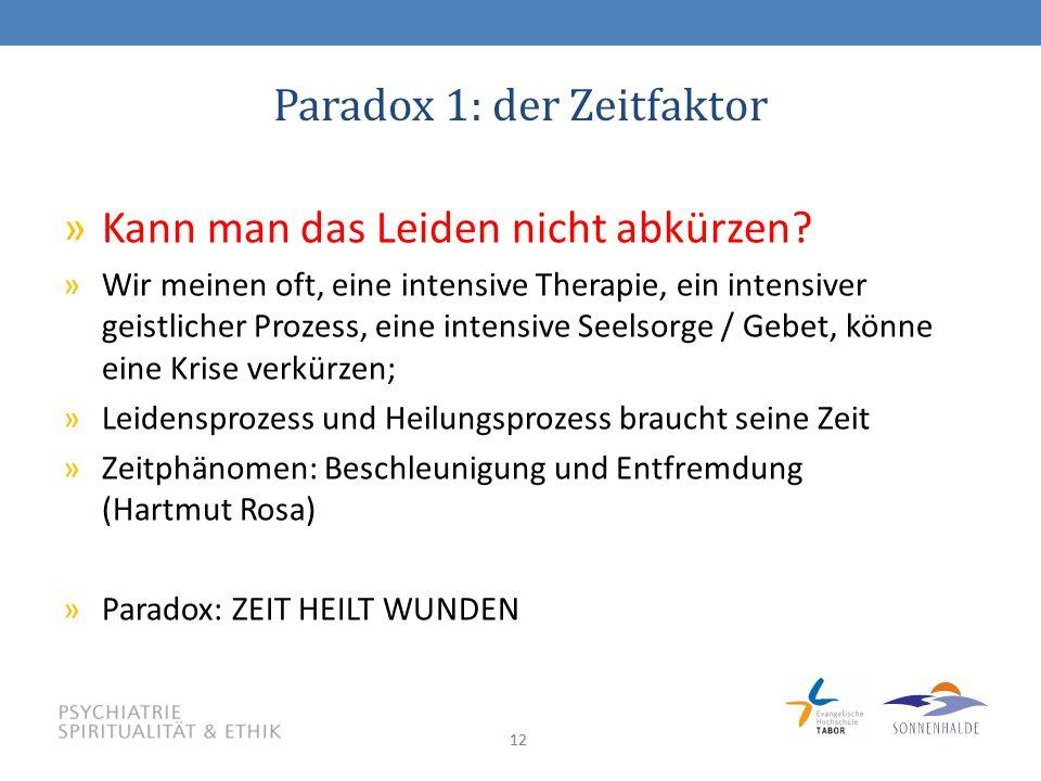 12 Paradox 1: der Zeitfaktor »Kann man das Leiden nicht abkürzen.