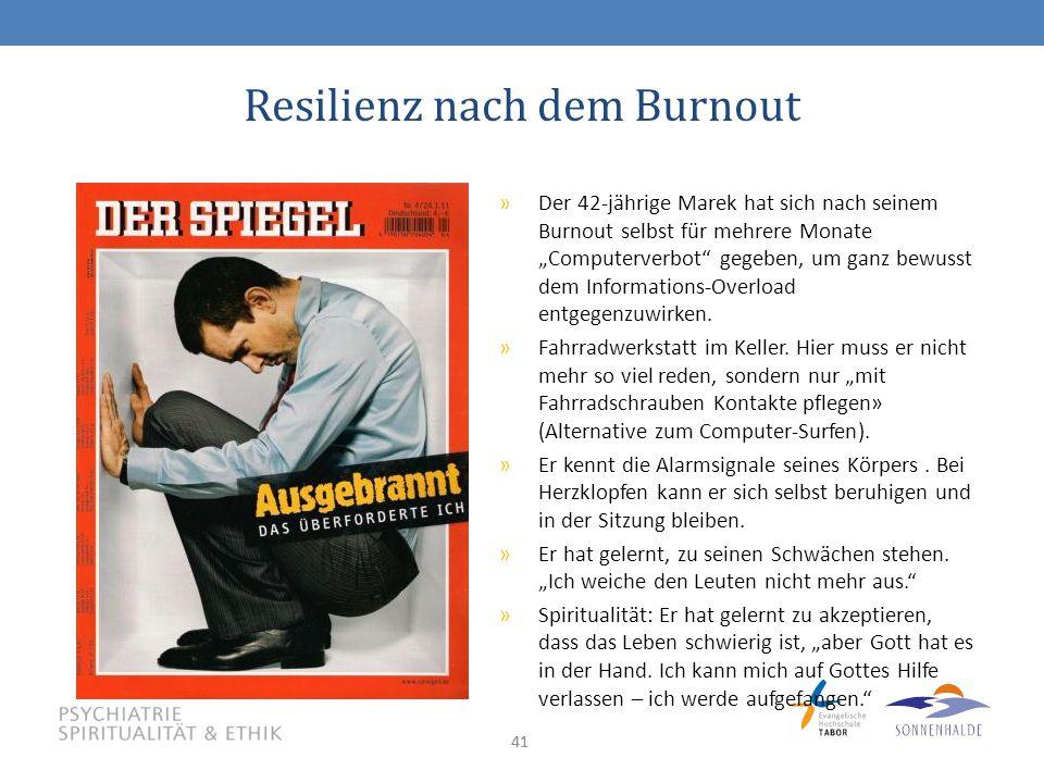 """41 Resilienz nach dem Burnout »Der 42-jährige Marek hat sich nach seinem Burnout selbst für mehrere Monate """"Computerverbot gegeben, um ganz bewusst dem Informations-Overload entgegenzuwirken."""