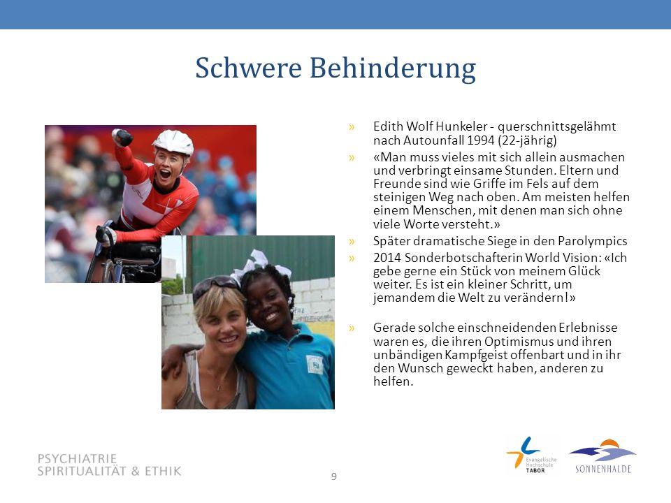 99 Schwere Behinderung »Edith Wolf Hunkeler - querschnittsgelähmt nach Autounfall 1994 (22-jährig) »«Man muss vieles mit sich allein ausmachen und verbringt einsame Stunden.