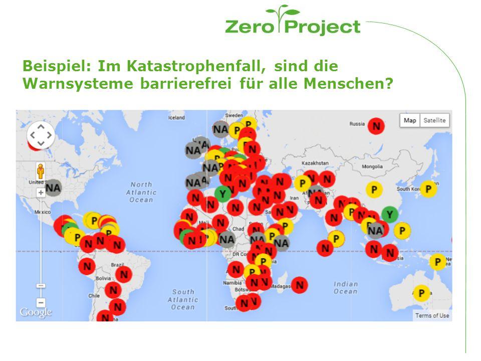 Beispiel: Im Katastrophenfall, sind die Warnsysteme barrierefrei für alle Menschen