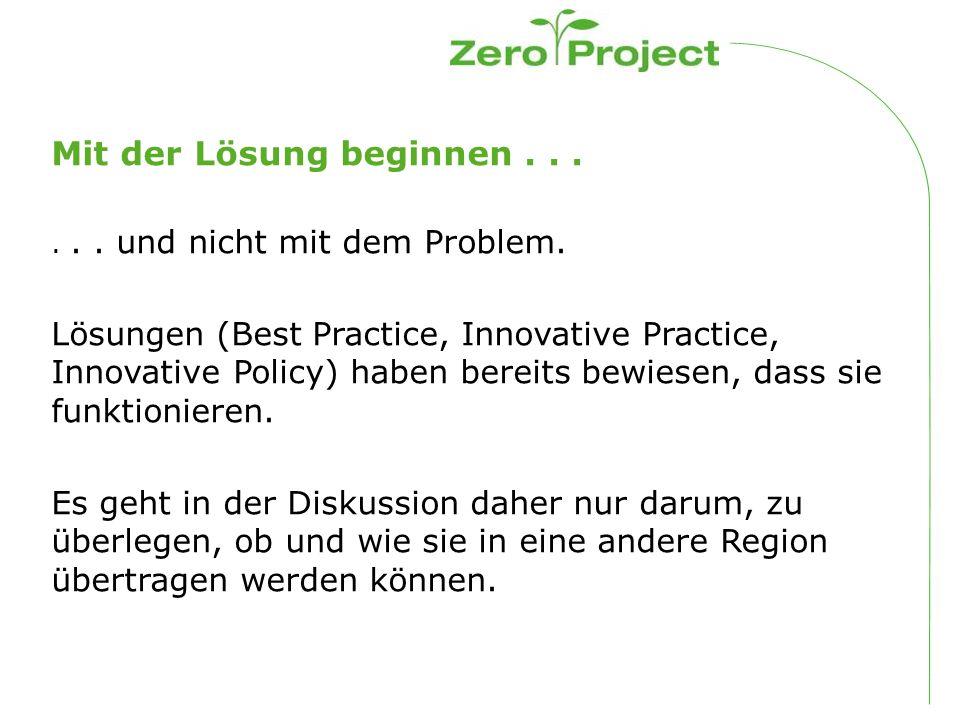 Das Zero Project-Netzwerk an Experten Basis ist das Zero Project Netzwerk von Experten und Betroffenen: Seit dem Jahr 2011 haben mehr als 2.500 Personen auf verschiedene Arten Beiträge geleistet Wie.