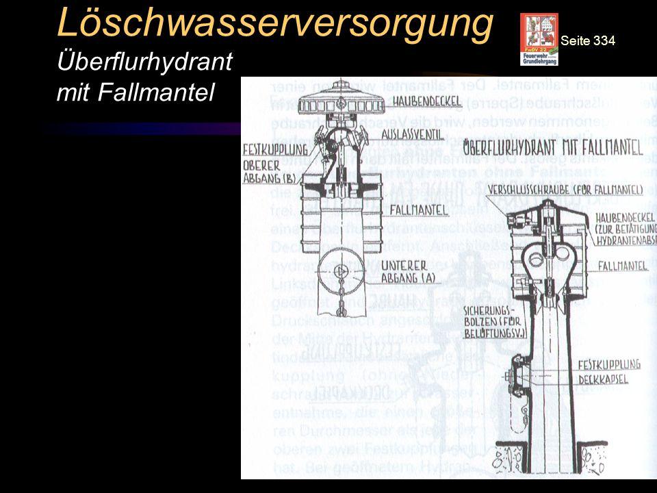 © BI Jörg Tillmann – Freiwillige Feuerwehr Unna Löschwasserversorgung Überflurhydrant mit Fallmantel Seite 334