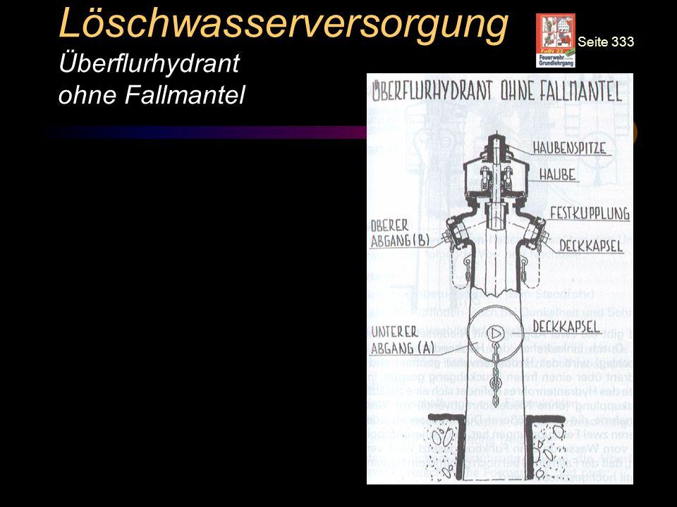 © BI Jörg Tillmann – Freiwillige Feuerwehr Unna Löschwasserversorgung Überflurhydrant ohne Fallmantel Seite 333