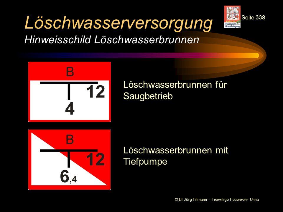 © BI Jörg Tillmann – Freiwillige Feuerwehr Unna Löschwasserversorgung Hinweisschild Löschwasserbrunnen Löschwasserbrunnen für Saugbetrieb Löschwasserb