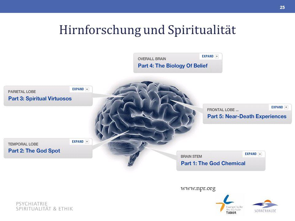 Hirnforschung und Spiritualität 25 www.npr.org