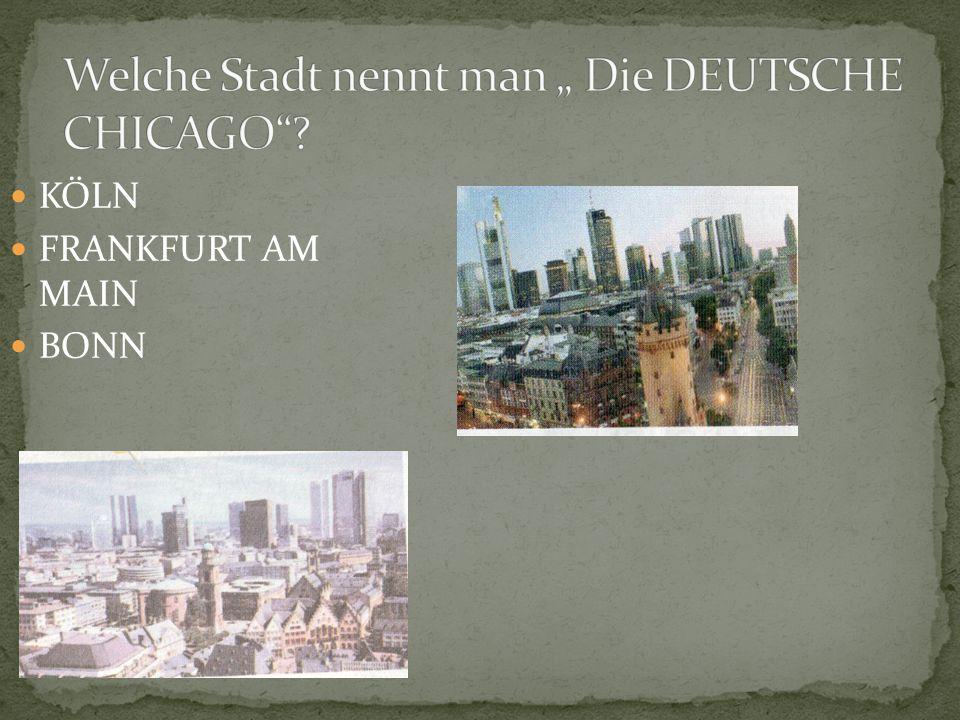 KÖLN FRANKFURT AM MAIN BONN