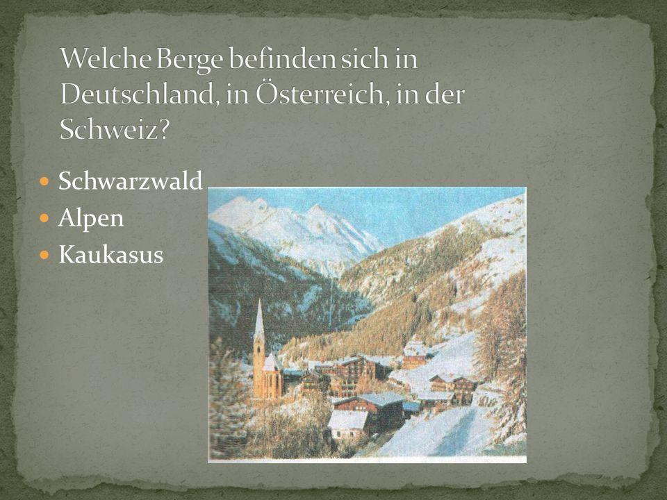 Schwarzwald Alpen Kaukasus
