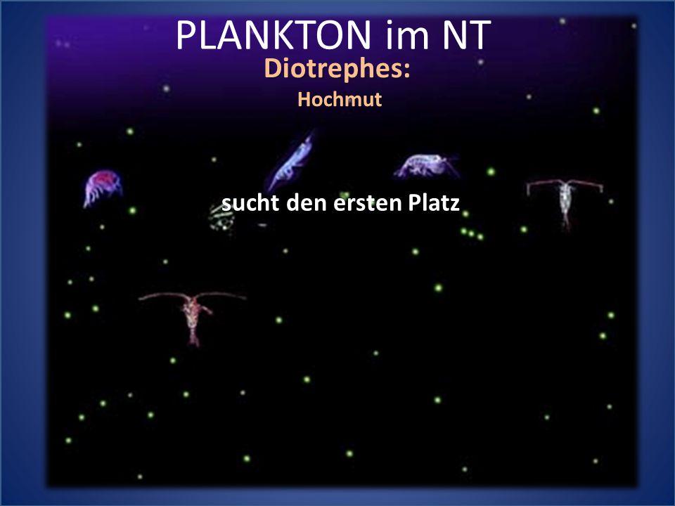PLANKTON im NT Diotrephes:Hochmut sucht den ersten Platz