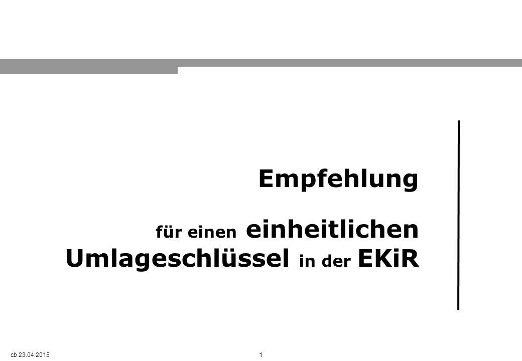 1 Empfehlung für einen einheitlichen Umlageschlüssel in der EKiR cb 23.04.2015