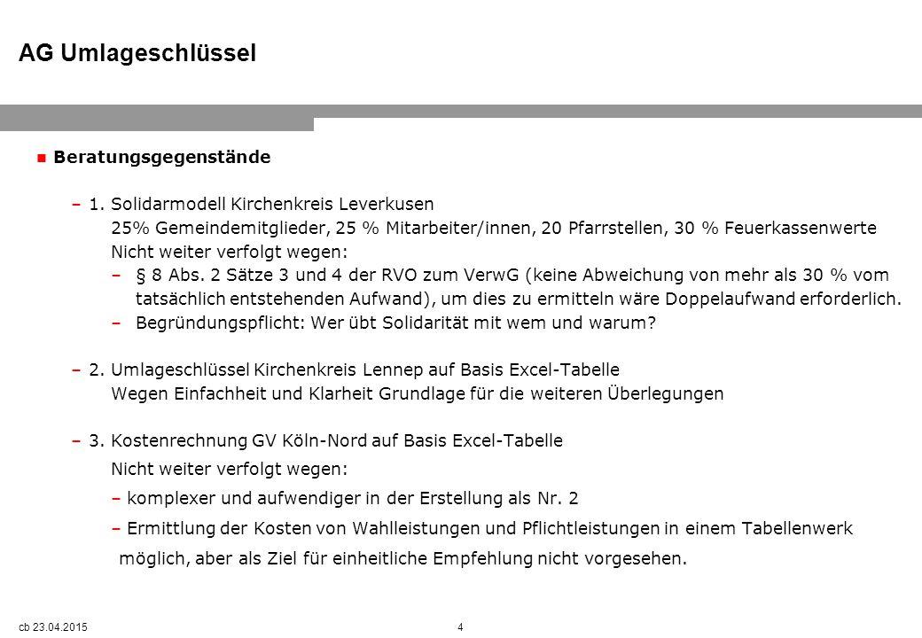 AG Umlageschlüssel Beratungsgegenstände –1.