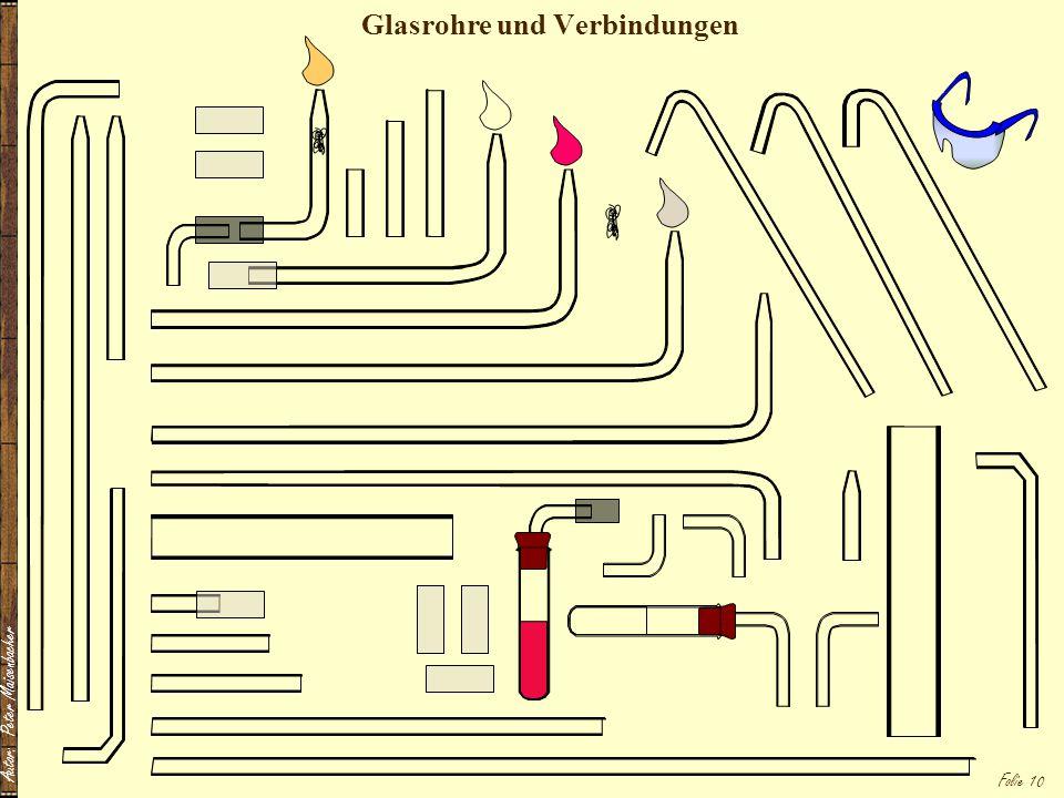 Autor: Peter Maisenbacher Folie 10 Glasrohre und Verbindungen