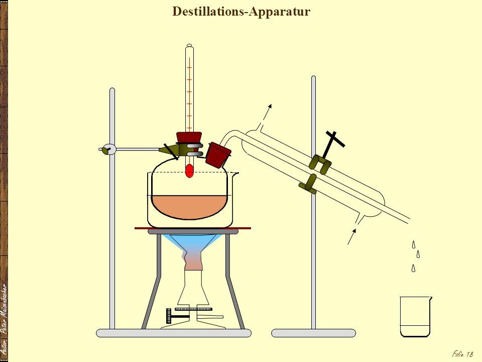Autor: Peter Maisenbacher Folie 18 Destillations-Apparatur