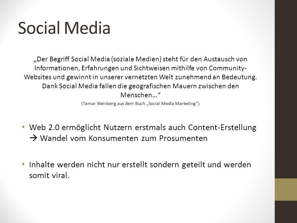 """Social Media """" Der Begriff Social Media (soziale Medien) steht für den Austausch von Informationen, Erfahrungen und Sichtweisen mithilfe von Community"""