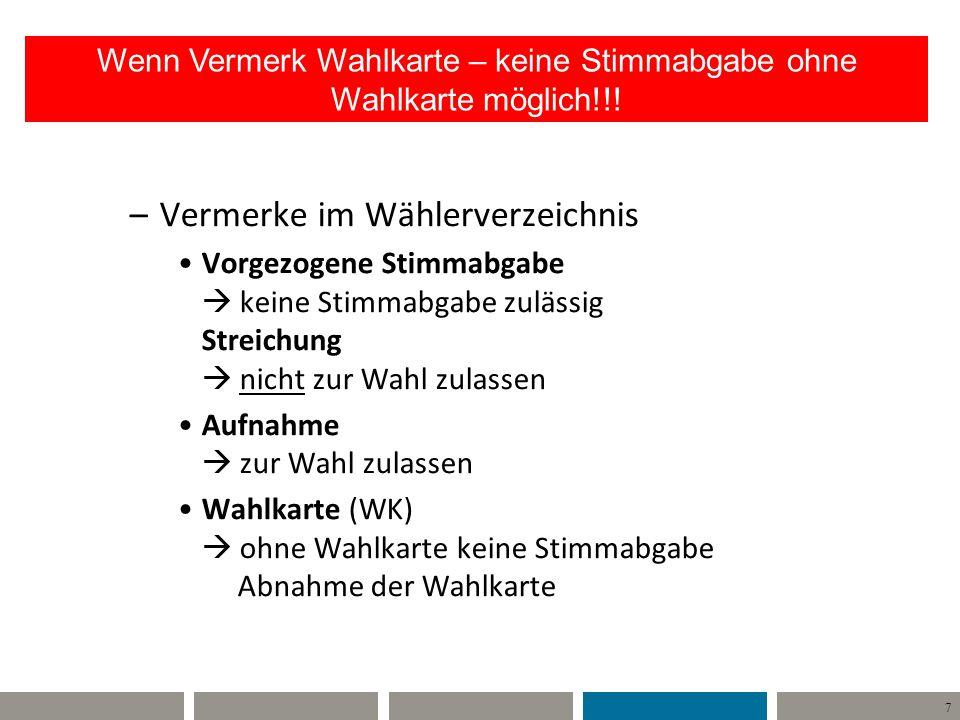 8 Willi Wähler Unterschied Wahlkarte – Briefwahl Lasche ist OFFEN !.